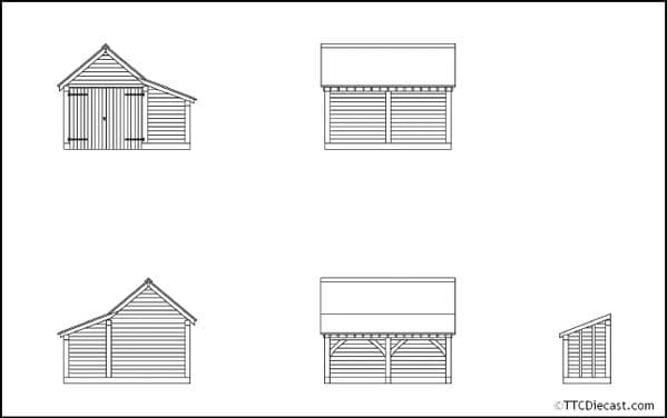 HORNBY R7271 Modern Timber Garage, OO Gauge